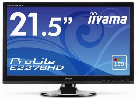 Фото - Iiyama анонсировала 21,5-дюймовый монитор ProLite E2278HD